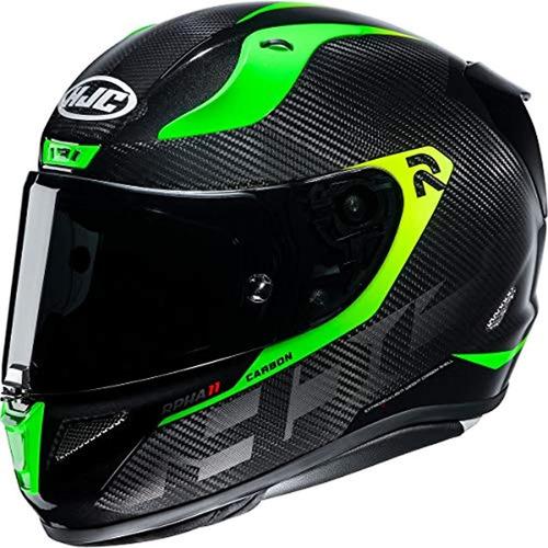 Casco De Moto Talla M, Color Negro-verde, Hjc Helmets