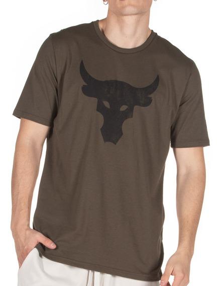 Remera Under Armour Ua Projet Rock Brahma Bull Hombre Ol