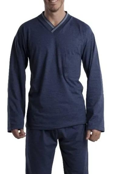 Pijama Hombre Invierno Algodon Jersey Polo Club