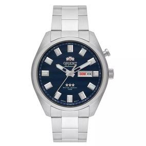 Relógio Masculino Orient Automatic 469ss076 D1sx Fundo Azul