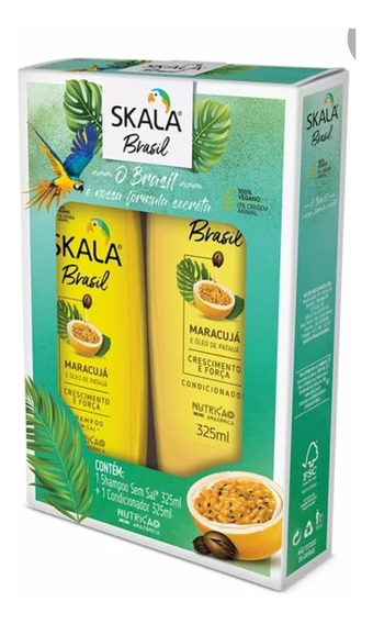Kit Shampoo Y Acondicionador Veganos Skala Maracuyá