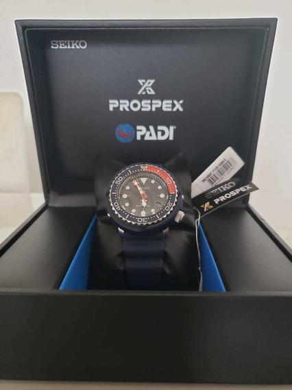 Relógio Seiko Sne499 Solar Dive Tuna Padi Prospex Azul