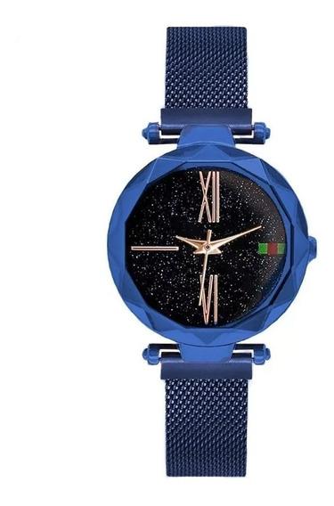 Relógio De Pulso Feminino Pulceira De Ima Bracelete Caixinh