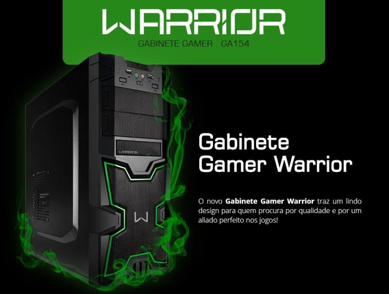 Gabinete Gamer C/ Usb Warrior Multilaser Ga154 S/fonte