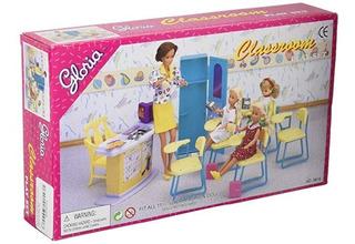 Muebles Casa Muñecas Tamaño Barbie Original Juego La Clase