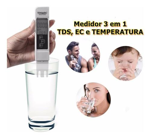 Medidor De Tds Ec Temperatura Prueba Calidad De Agua