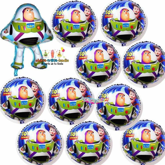 Toy Story Buzz Woody Kit 11 Globos Metálicos Fiesta Cumple