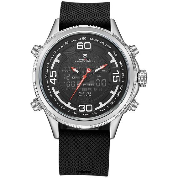 Weide 6306 Dual Exibição Relógio Digital Cozy Silicone Cinta