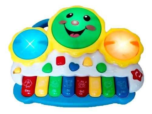 Teclado Piano Infatil Musical Animal Bebê Educativo Sol Drum