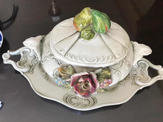 Sopera Antigua Porcelana Italiana Capodimonte Original