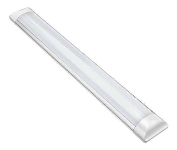 Kit C/10 Luminaria Led Sobrepor Slim 36w Branco Frio 120cm