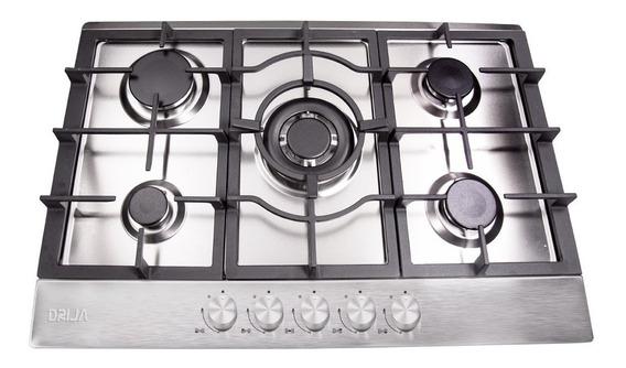 Cocina 5 Hornillas Tope Empotrable A Gas Milan 90cm Drija