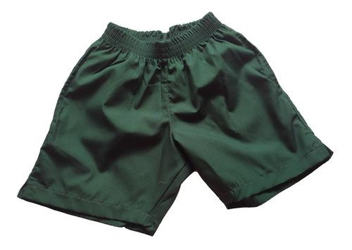 Short Verde Uniforme Escolar Talle 6 Al 16
