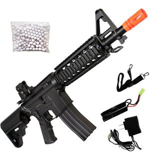 Fuzil M4a1 Aeg Airsoft Ris Elétrico 360 Fps Rifle Cyma Cm506