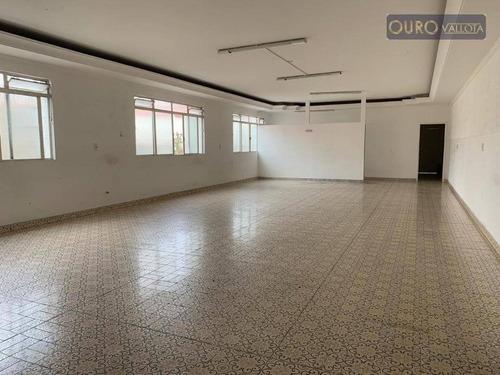 Salão Para Alugar, 300 M² Por R$ 4.000,00/mês - Mooca - São Paulo/sp - Sl0343