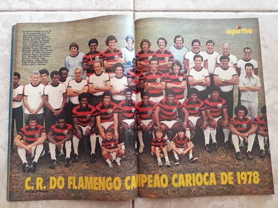 Manchete Esportiva # 66 Pôster Flamengo Campeão Carioca 78