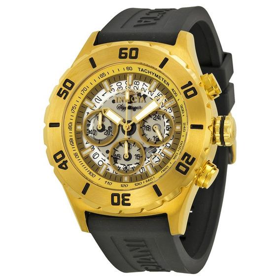 Relógio Invicta Original, Couro De Brown, Masculino