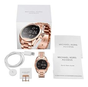 Relógio Michael Kors Smart Watch Access Gold Rose Lacrado