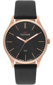Relógio Technos Steel Masculino Dourado 2035mqg/2p
