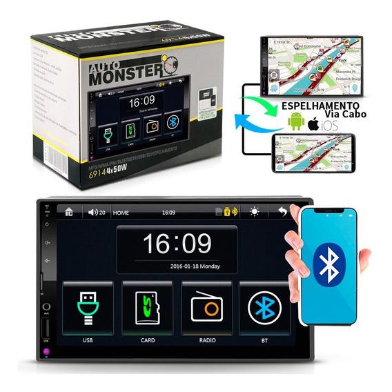 Central Multimídia Mp5 Bluetooth Usb Sd Aux Espelhamento200w