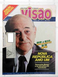 Revista Visão - Luiz Gonzaga Gonzagão - Tancredo Neves 1985
