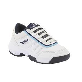 Zapatillas Topper Tie Break Ii Kids- Bco/azul-28320