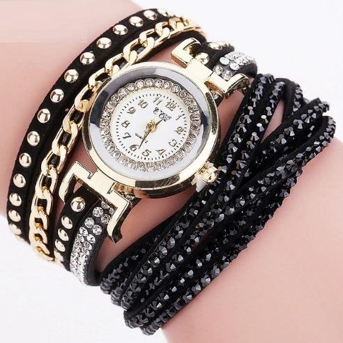 Relógio Feminino Ccq Barato Strass Pulseira Bracelete
