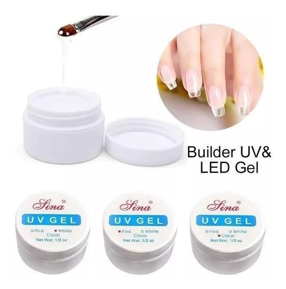 Gel Uv Lina Clear / Transparente De 1/2 Onza Manicure Uñas