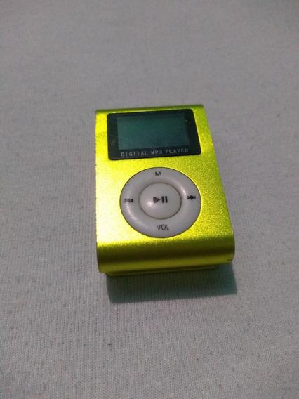 Mp3 Player Mini Shuffler Rádio Fm Tela Lcd Entrada Micro