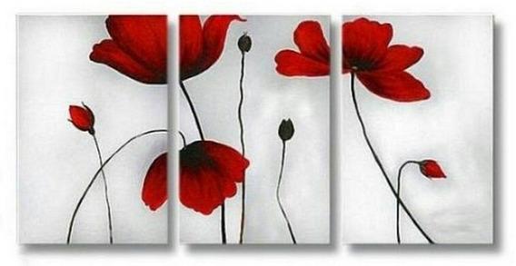 Cuadros Flores Pintados A Mano.reproducciones A Eleccion