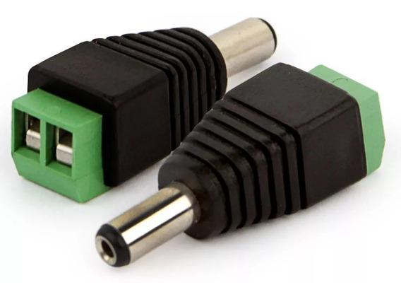 Conector P4 Macho (borne) Cftv - Pacote Com 10 Unidades