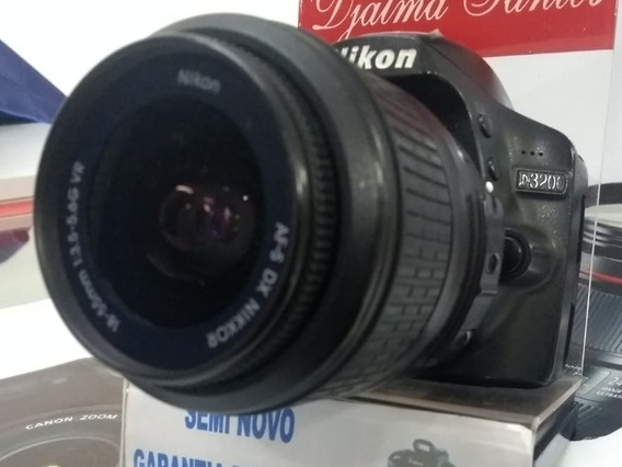 Câmera Nikon D3200 C/ 18-55 Mm