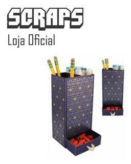 #1063 - Caixa Porta Lapis Caneta Mesa - Arquivo Silhouette