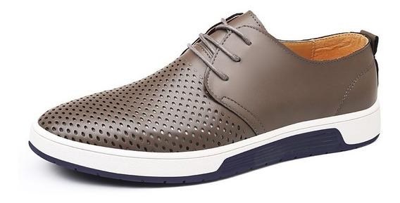 Casual Sapatos De Couro Respirável