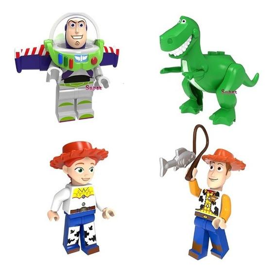 Boneco Montar Toy Store Buzz Woody Jessie Rex Miniaturas