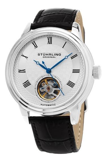 Reloj Hombre Casual Cuero Acero Inoxidable Stuhrling
