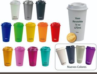40 Vasos Reusables Para Cafe Tipo Starbucks