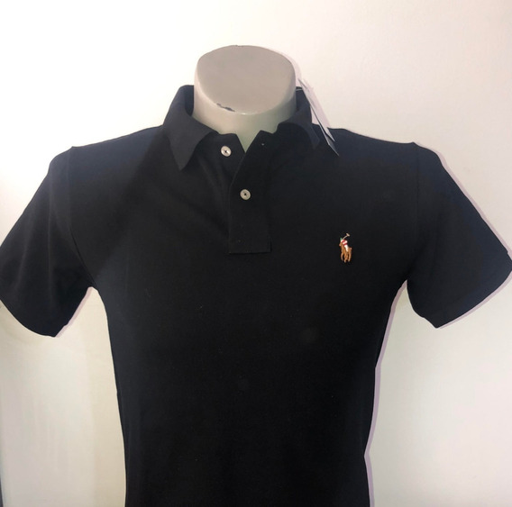 Camiseta Tipo Polo 100% Original Color Negro