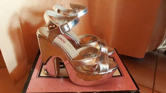 Zapatos Plata De Fiesta Formales Talle 38