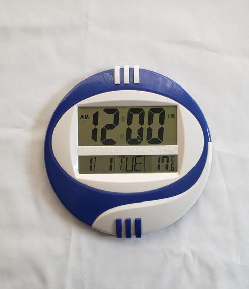 Reloj Digital Pared/escritorio Temperatura, Alarma Numerotes