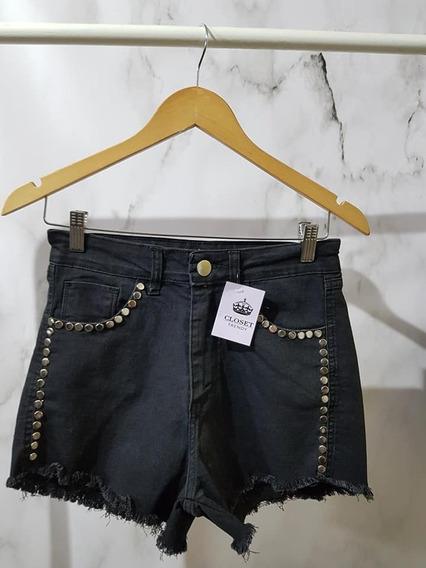 Short Jean Tachas Mujer