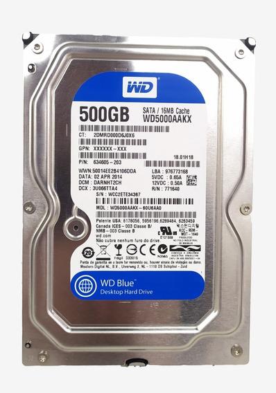 Hd 500gb Western Digital Blue 7200 Rpm Preço Especial