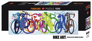 Colorful Row, Bicicletas Bike Art 1000pz Rompecabezas Heye