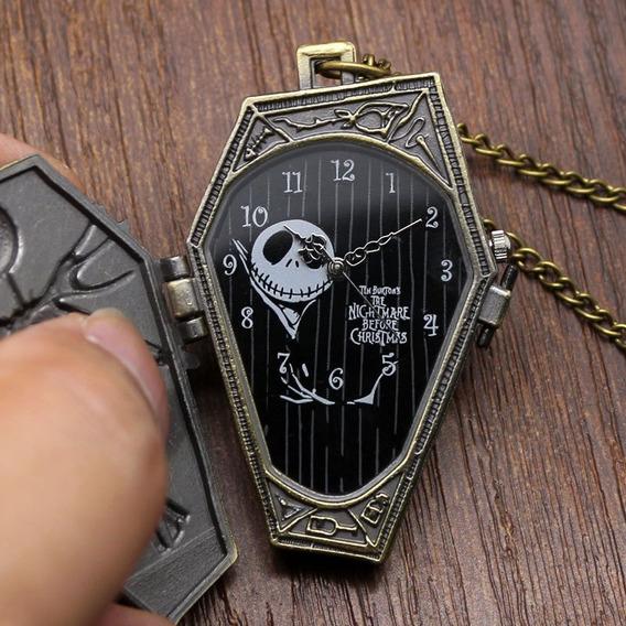 Sin Bateria Reloj Collar Bolsillo Extraño Mundo Jack Ataud