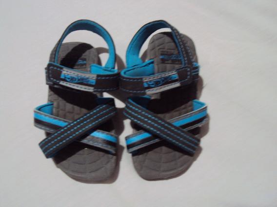 Sandalia Infantil Cinza E Azul Grendene Tamanho 20 / 21