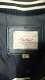 Campera De Cuero Mango Talle L Legitima Impecable
