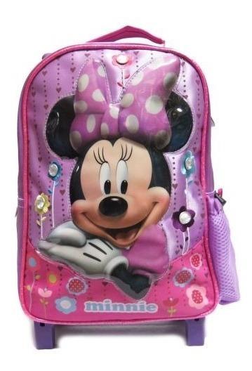 Mochila Colegial Con Carro Nena Minnie 8474 - Children