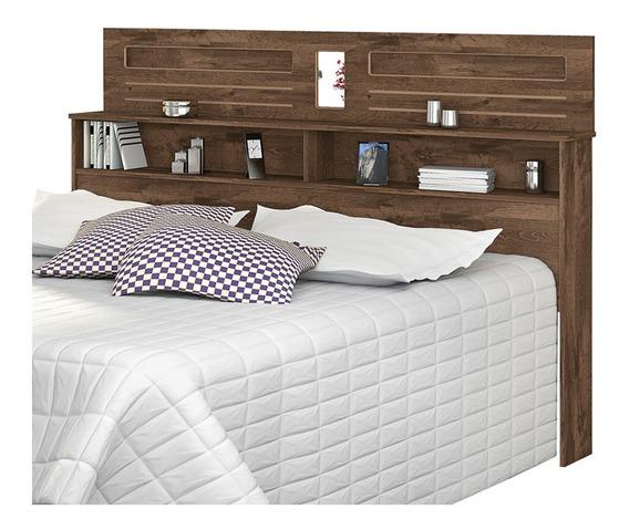 Cabeceira de cama Loja DoceLar Florença Queen 160cm x 119cm castanho