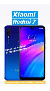 Smartphone Celular Xiaomi Redmi 7 3gb Ram+32gb Novo Original