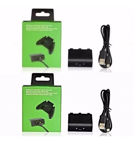 Kit 2 Carregadores Xbox One + 2 Baterias De Controles S/ Fio